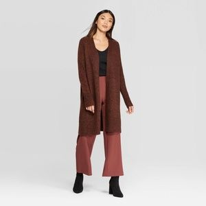 Prologue Open Front Cardigan Brown XS Extra Small